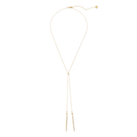Jules Smith Ari Lariat Necklace in Gold