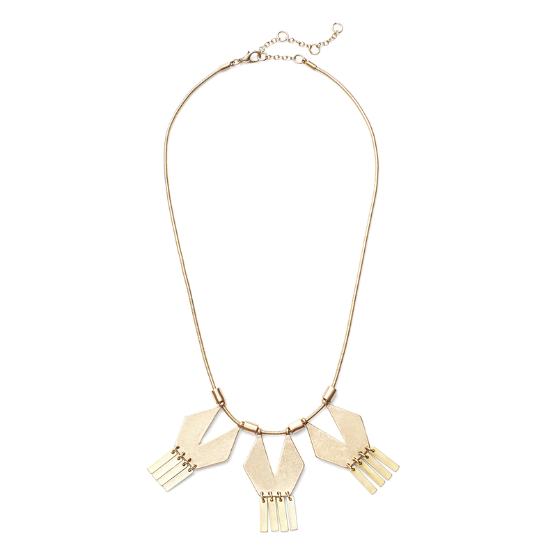 SLATE Geometric Statement Necklace