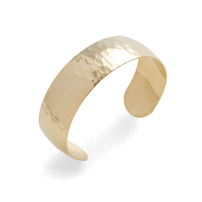 a.v. max Hammered Dome Cuff in Gold
