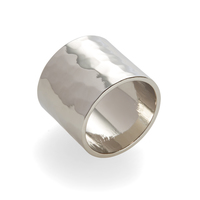 a.v. max Wide Hammered Ring in Silver