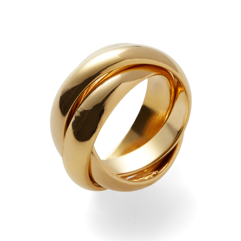 a.v. max Wide Infinity Ring in Gold
