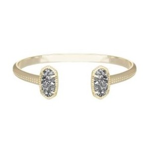 Kendra Scott Elton Bracelet in Gold with Platinum Drusy