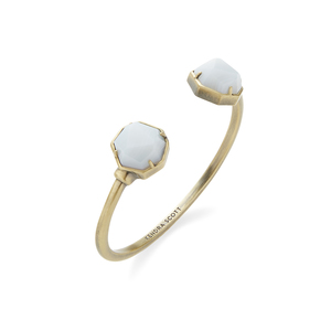 Kendra Scott Brinkley Bracelet in White Banded Agate