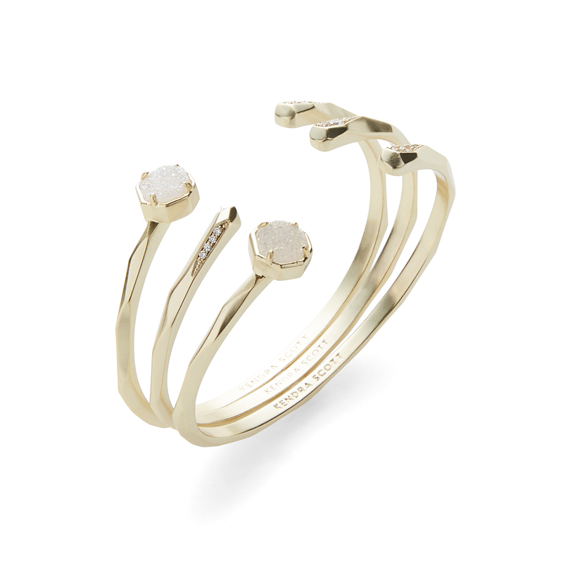 Kendra Scott Blake Bangle Set in Gold