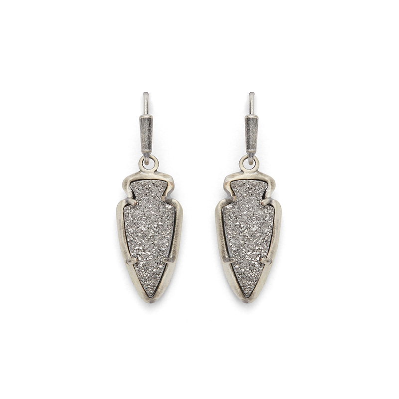 Kendra Scott Kate Earrings in Platinum Drusy