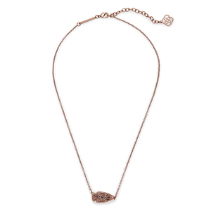 Kendra Scott Kasey Necklace in Chocolate Drusy
