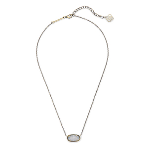 Kendra Scott Elisa Necklace in White Banded Agate