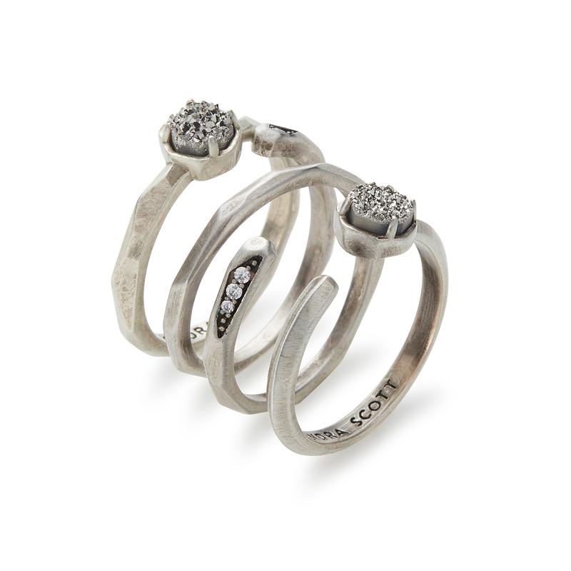 Kendra Scott Warren Ring Set in Antique Silver