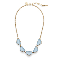 Loren Hope Chevron Statement Necklace in Powder Blue