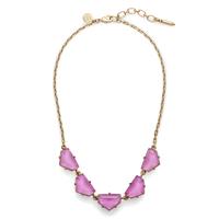 Loren Hope Chevron Statement Necklace in Electric Purple
