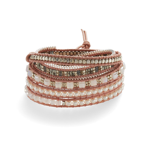 Nakamol Pearl and Multicolored Wrap Bracelet