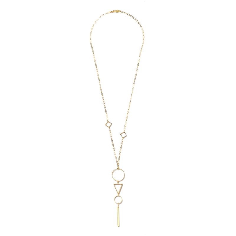 a.v. max Geometric Pendant Necklace