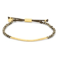 Gorjana Power Gemstone Bracelet in Pyrite and Gold