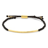 Gorjana Power Gemstone Bracelet in Black Onyx and Gold