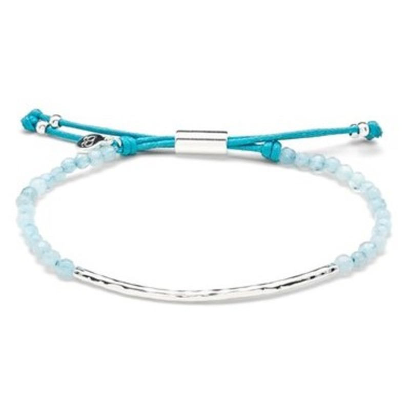 Gorjana Power Gemstone Bracelet in Aquamarin and Silver