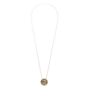 House of Harlow 1960 Hieroglyphics Coin Pendant Necklace
