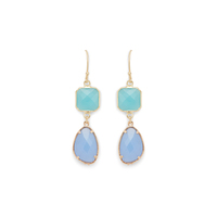 Elise M Blaire Earring in Mint and Blue