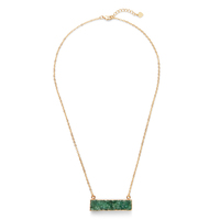 Elise M Francesca Necklace in Green  Druzy