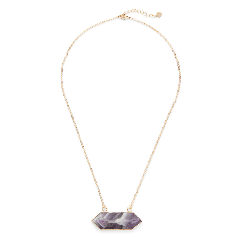 Elise M Riva Necklace in Amethyst