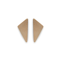 Kris Nations Obtuse Triangle Stud Earrings in Gold