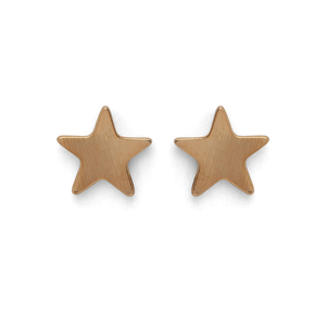 Kris Nations Star Stud Earrings in Gold