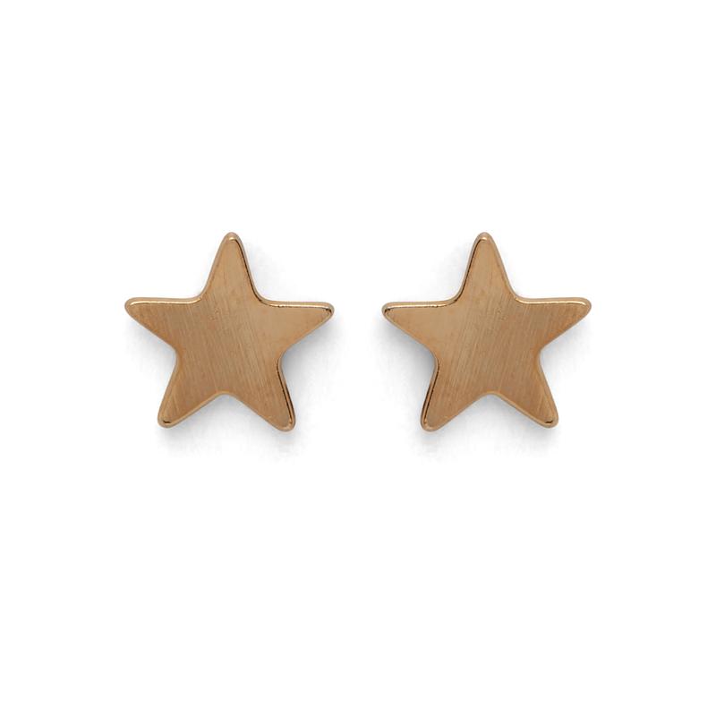 Kris Nations Star Stud Earrings in Gold