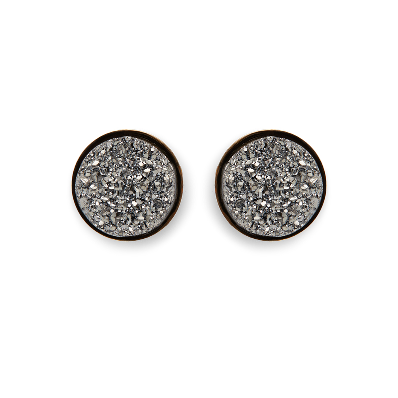 Moon & Lola Chrysler Round Studs in Pewter