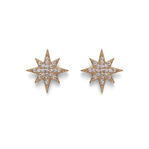 Moon & Lola Starlett Studs in Gold