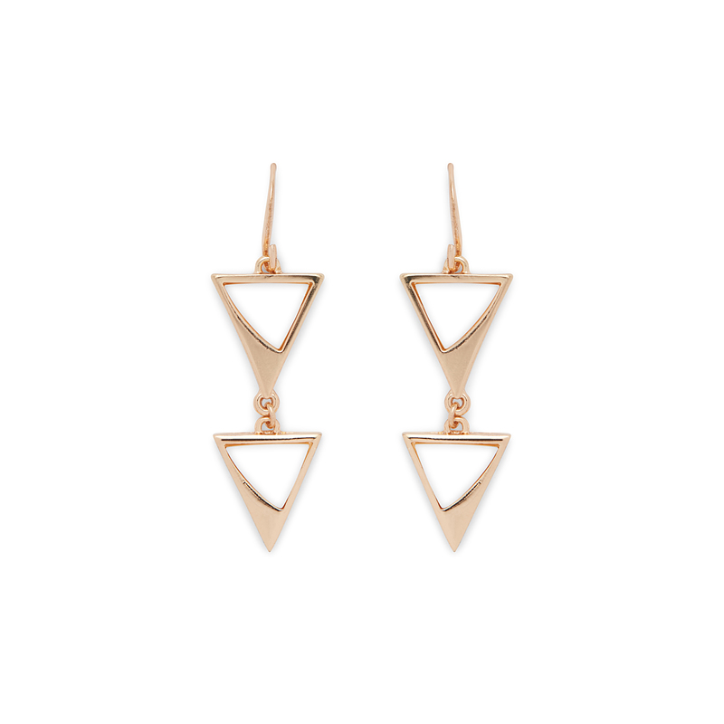 SLATE Flash of Pearl Triangle Drops