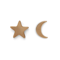 Kris Nations Star and Moon Stud Earrings