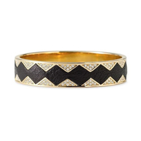 House of Harlow 1960 Sunburst Bangle in Black and White