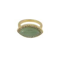 Jules Smith Iris Ring in Jade