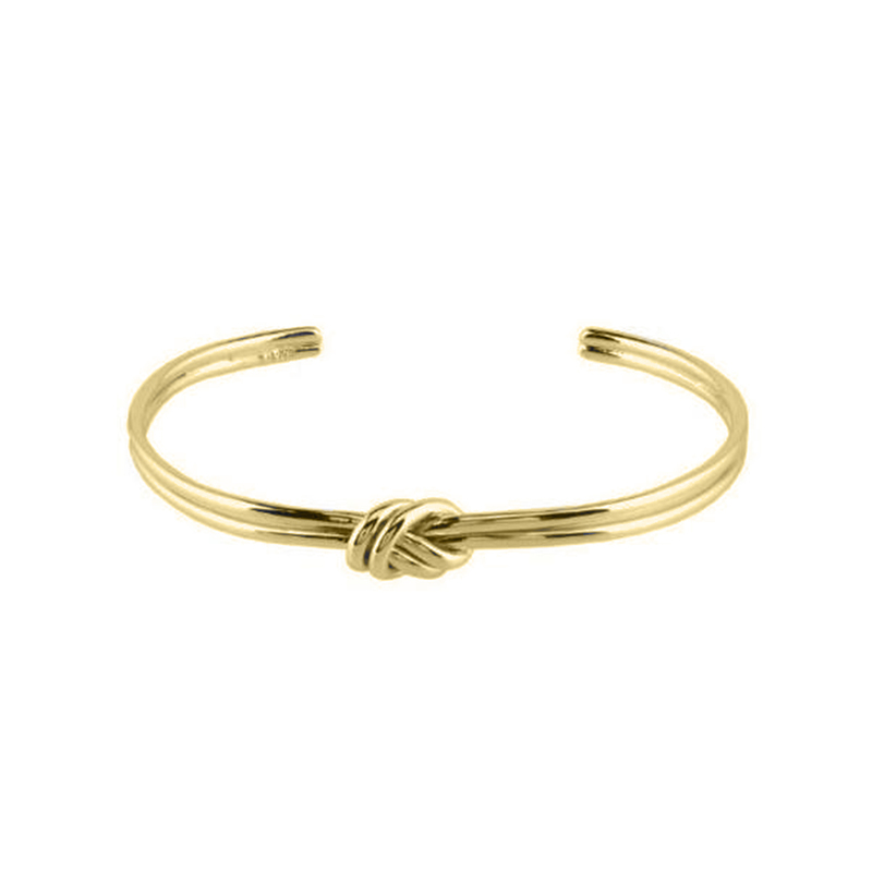 Jill Michael Knot Center Cuff in Gold