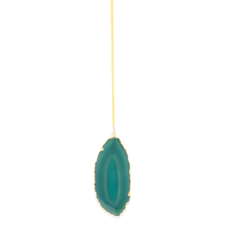 Robyn Rhodes Taylor Necklace in Green Agate