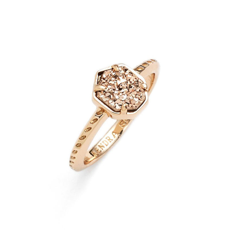 Kendra Scott Calvin Ring in Rose Gold Drusy