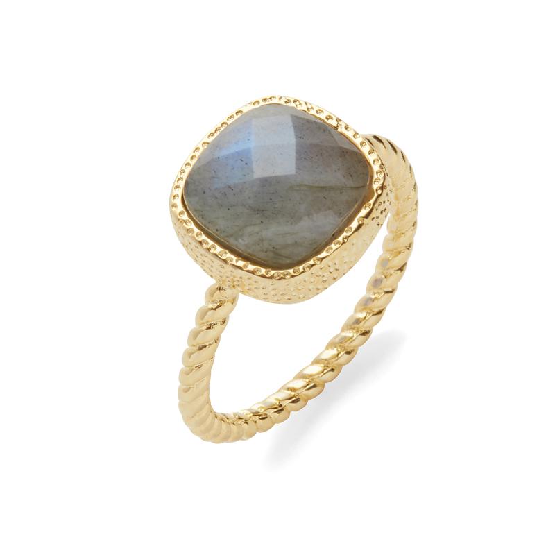 Elise M Hadar Ring in Labradorite
