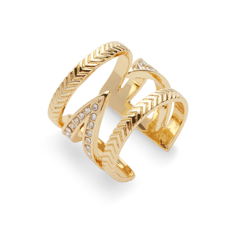 Ettika Cuff Ring in Gold