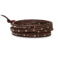 Nakamol Mixed Gunmetal & Burgundy Wrap Bracelet