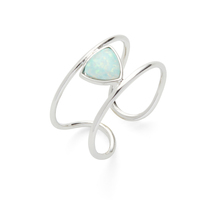 Wanderlust + Co Aurora Bar Ring in Silver