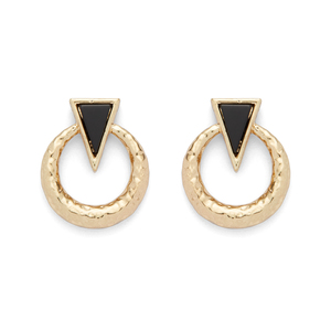 House of Harlow 1960 Hymn to Selene Door Knocker Earrings in Black