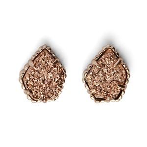 Kendra Scott Tessa Stud Earrings in Rose Gold Drusy