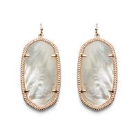 Kendra Scott Danielle Earrings in Rose Gold Ivory Pearl