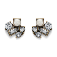 Perry Street Geometric Crystal Cluster Earrings