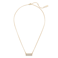 Melanie Auld Modern Stone Bar Necklace in Moonstone