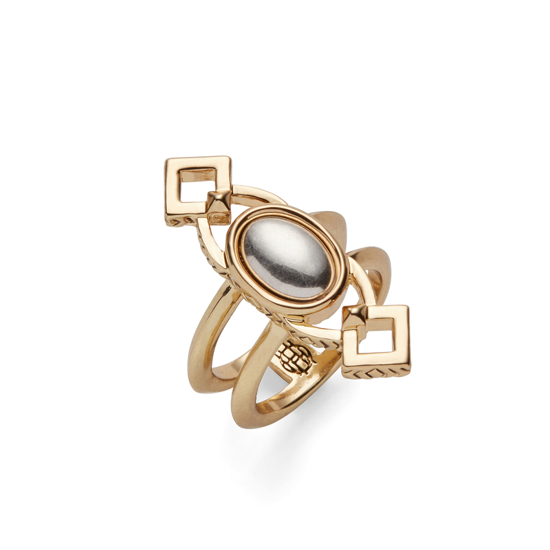 House of Harlow 1960 Lady of Grace Ring in Gold and Silver