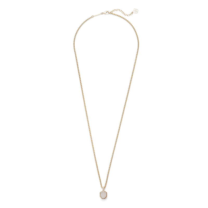 Kendra Scott Oliver Necklace in Gold Iridescent Drusy