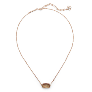 Kendra Scott Elisa Necklace in Rose Gold and Brown Pearl