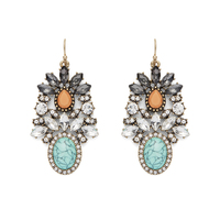 Perry Street Ombre Turquoise Statement Earrings