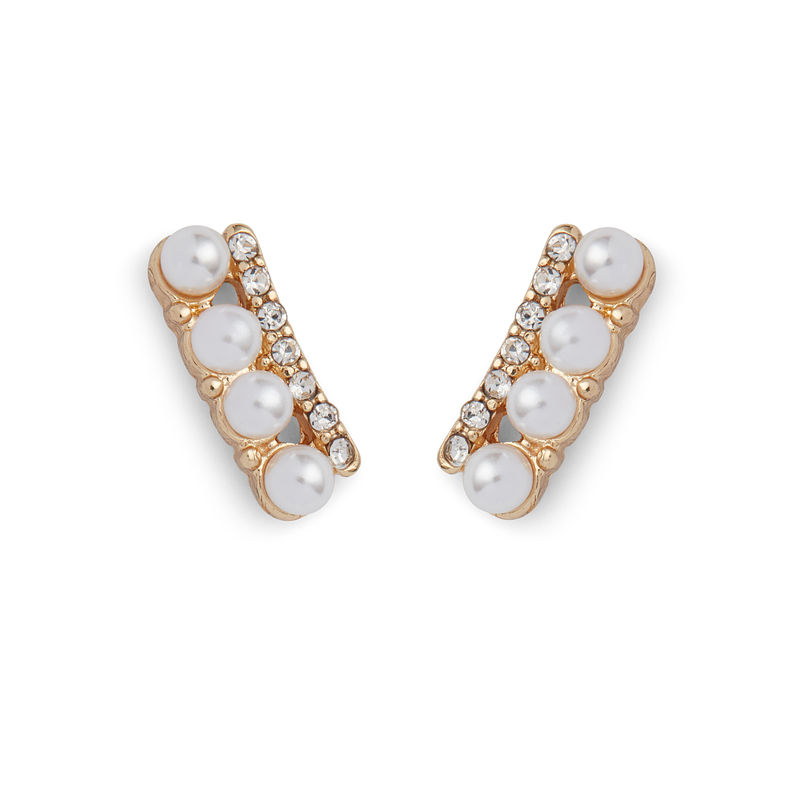 Perry Street Mini Pearl Ear Climbers