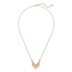 SLATE Chevron Pendant Necklace